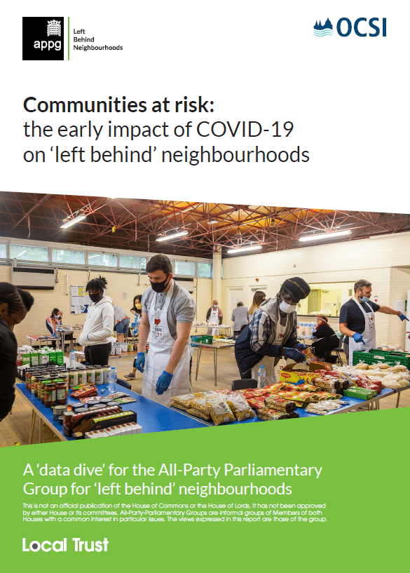 Communities at risk: the early impact of COVID-19 on 'left behind' neighbourhoods