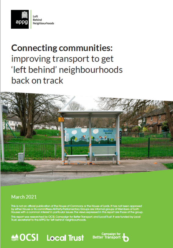Connecting communities: improving transport to get 'left behind' neighbourhoods back on track